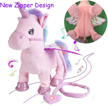 Magic Electric Walking Unicorn Plush Toy Stuffed Animal Toy Electronic Music Unicorn Toy