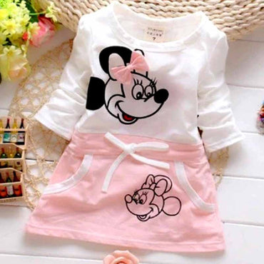 Hot Fashion Cute Minnie Baby Girl Stitching Dress