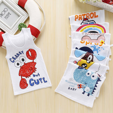 Boys T-Shirt Cartoon Kids Underwear Sleeveless Cotton