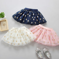 Fashion Cute Baby Girls  Star Print Mesh Princess Ballet Dancing Party Skirt