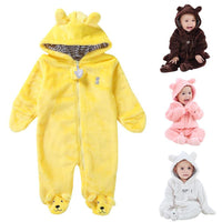Baby Coral Fleece Brand Hoodies Jumpsuit
