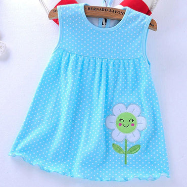 Baby Girls Fashion Cotton Flower Princess Dress