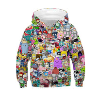 Children Harajuku Anime Cartoon 3D Hooded Sweatshirts