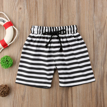 Cool Kids Baby Boys Floral Stripes Print Shorts