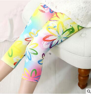 Hot Multicolor Elastic Silk Breathable Girl Leggings Pant