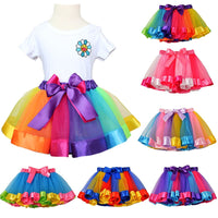 Girl Party Dance Rainbow Tulle Skirts