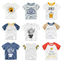 Cute Cartoon Fashion Design Boy T-Shirts For 2-8 Years