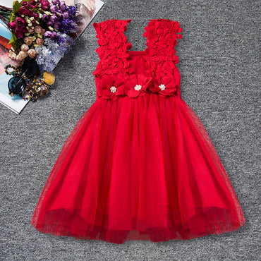 Baby Girl Carnival Outfit Flower Lace Tutu Dress