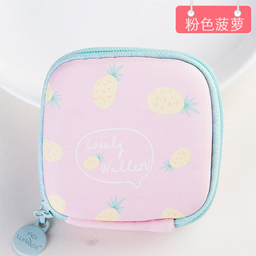 Coin Bag Zipper Fruit Coin Case Purse Mini Wallet