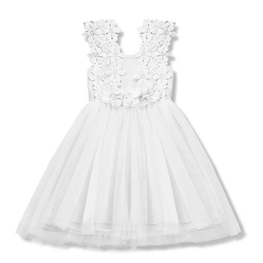 Baby Girl Floral Baptism Gown Tulle Party Sundress
