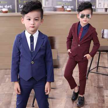 Autumn Single Breasted Kids Blazers Boy Suit