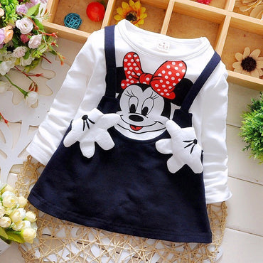 New Arrival Baby Girl Long Sleeve Cotton Cute Princess Dress