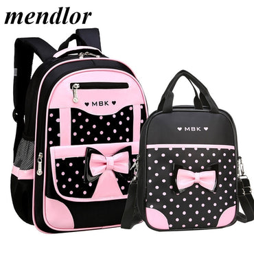 Girls Backpack Kids Dots Printing Backpacks