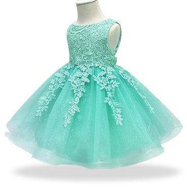 Elegant Baby Girl Dress Lace Baptism Princess Party Dress