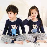 Children Pajamas Set Boys & Girls Cartoon Sleepwear Suit
