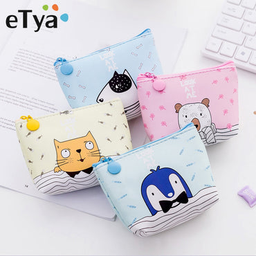 Baby Kids Gift PU Leather Zipper Wallets
