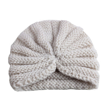 Knitted Winter Baby Hat for Girls Candy Color
