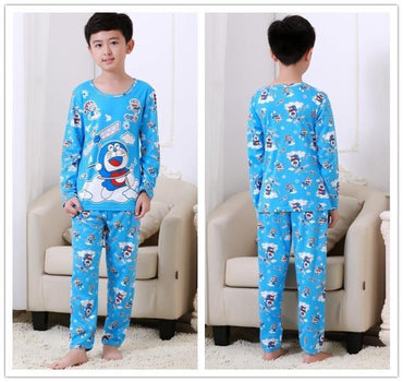 Children Pajamas Sets Long Sleeve Cartoon Fashion Girl Boys Sleepwear