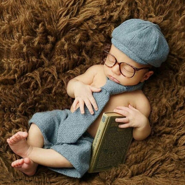Newborn Baby Boy Gentleman Set Costume Clothing Studio Shoot Photography Props