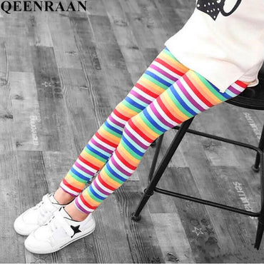 Girls Leggings Flower Print Classic Long Pants For Girl