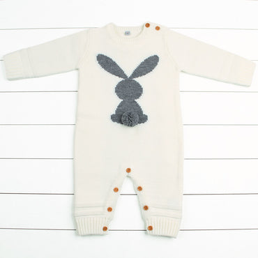 Cute Animal Rabbit Knit Baby Girls Jumpsuits