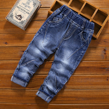 Hot Fashion Boys Jeans Casual Cotton Denim Long Pants
