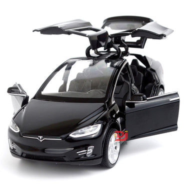 1:32 Alloy Car Model Tesla MODEL X90 Metal Diecast Toy Vehicles