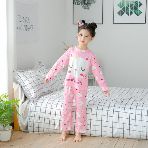New Arrival Children Pajamas Set Long Sleeved Sleepwear For Girl and Boy