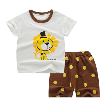 2pcs Cartoon Children Pajamas Sets Girls Boys Casual Sleepwear