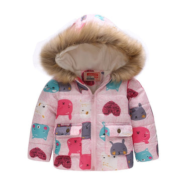 Children Jacket For Girls Coat Kids Thick Warm Hooded Outerwear