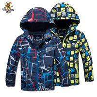 Children Outerwear Warm Polar Fleece Coat Hooded Kids