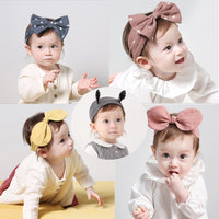 Baby Girl Headbands Cotton Lovely Dot Adjustable Baby Headwear Bow