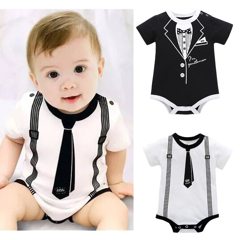 Boy Print Clothes Casual Romper