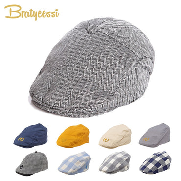 Fashion Baby Hat Handsome Cotton Linen Baby Boy Cap