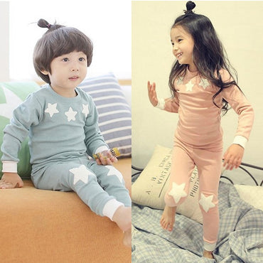 Winter children's pajamas set for boys and girls