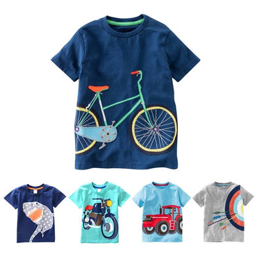 Shirts Baby Boys Casual Short Sleeve Car Print T-shirt
