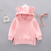 Girl Cotton Casual Leisure Hooded Sweatshirt