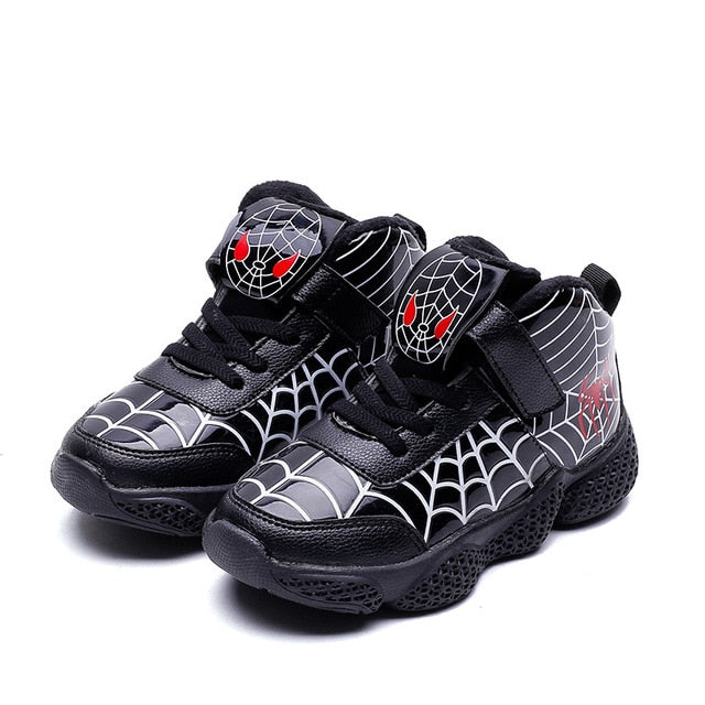 Cartoon Spiderman Kids Boys Sports Sneakers