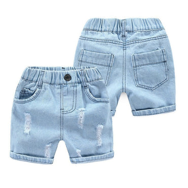 Denim Shorts Casual Kids Elastic Waist Cotton Short