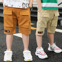 Kiddie Boy Sports Cargo Shorts With Pocket