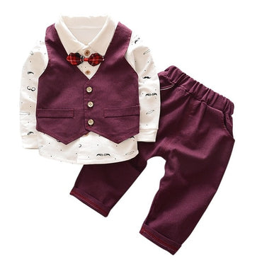 Spring Autumn Baby Boy Suit British Wind Children's Boy Suits