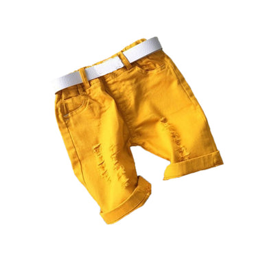 Cotton Shorts Solid Color Toddler Pants Kids