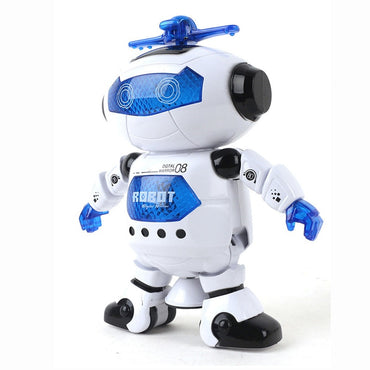 Hot 360 Space Rotating Smart Dance Astronaut Robot Music LED Light Electronic Walking Funny Toys