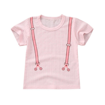 Baby Clothes Toddler Baby Boy Girl Summer Cotton Print T-shirt