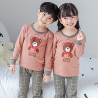 Boys Girls Pajamas Sets Cotton Cartoon Sleepwear