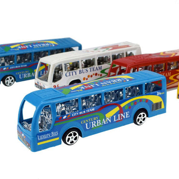 "5.5"" City Bus Inertial Cars Kids Toys Car Model Vehicles Baby Toy"