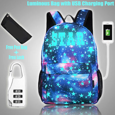 Luminous Student School Bag Laptop Backpack