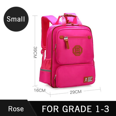 Kids Waterproof Backpacks England Style School Backpack