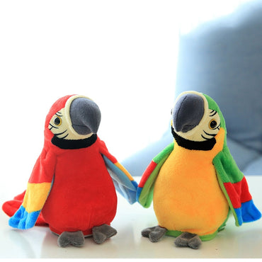 Electronic Talking Parrot  Plush Toys Cute Speaking and Recording Repeats Waving Wings