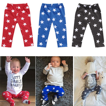 Newborn Kid Baby Boy Girl Star Print Pant Three Colour Pant
